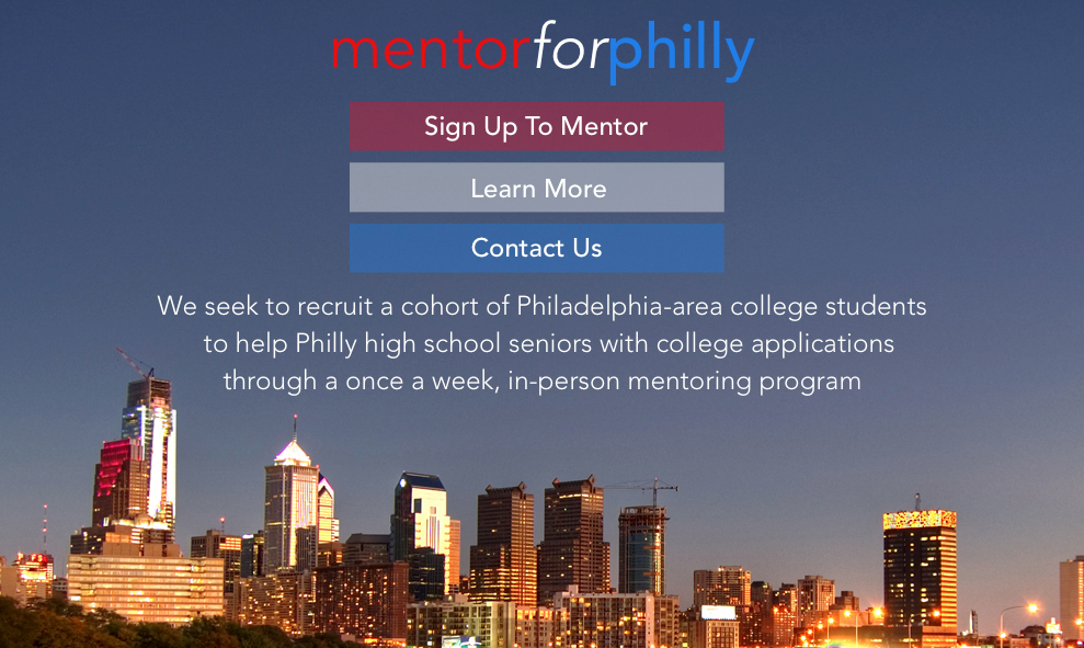 Visit the group's website at MentorforPhilly.com