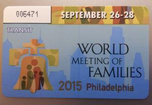 SEPTA pass for the papal visit. September 27, 2015. Maggie Heffernan for The Clerk
