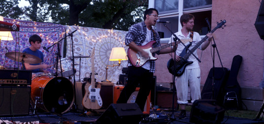 "Luis and his band at Music and Art House's event ""Backyard Barbecue Bonanza"".  September 19, 2015. Alana Thurston, Staff Photographer"