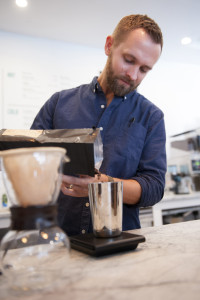 Zach Morris, owner and founder of Green Engine Coffee Co. October 30, 2015. Ryan Gooding, Staff Photographer