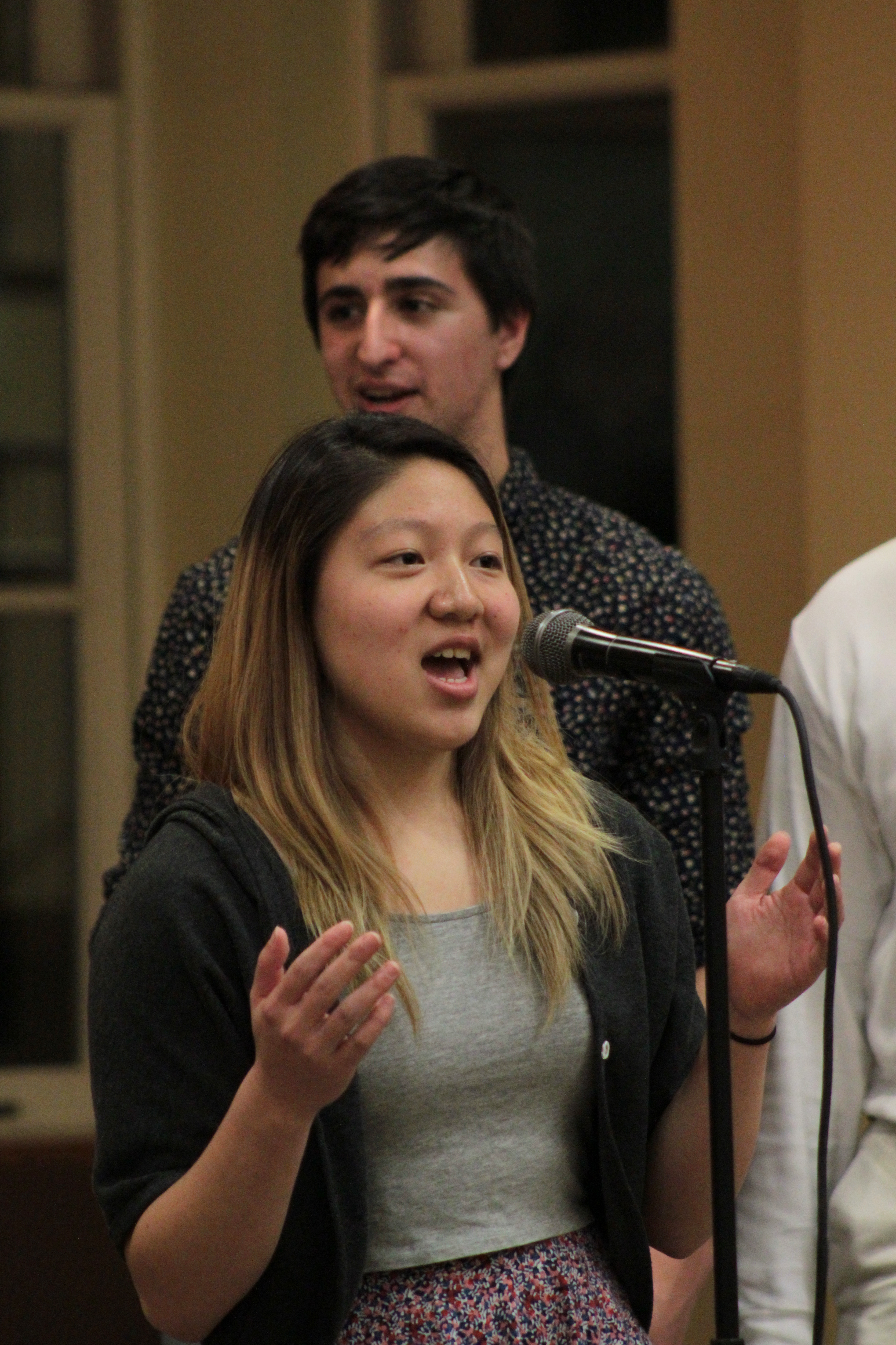 "Audrey Lin BMC '18 sings lead on ""Titanium"""